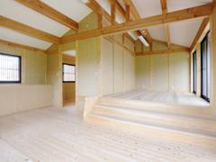 北・南・東と3方向に窓を設けのびやかな寝室です